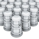 Coffres gris Image stock