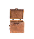 Coffret d'ottone antico con la serratura Fotografie Stock