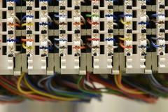 Coffret de cadre de distribution principale d'équipement de télécommunication image libre de droits