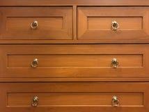 Coffret en bois de tiroir Photos libres de droits