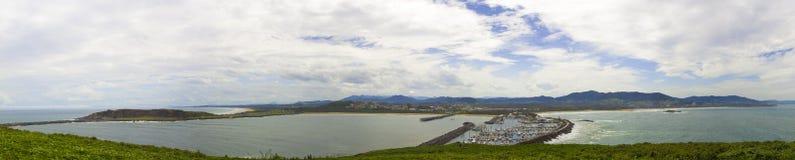 Coffs Hafen-Panorama lizenzfreies stockfoto