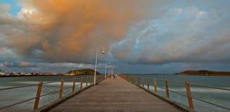 Coffs Harbour brygga Arkivbilder