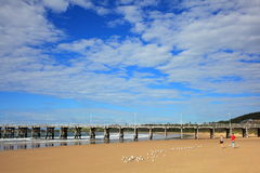 Coffs Harbour Jetty and beach scenery Stock Image