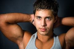 Cofident sexy young man Stock Image