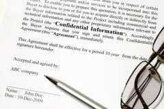 cofidential информация стоковые фото