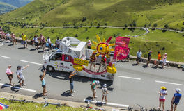 Cofidis Caravan - Tour de France 2014 Royalty Free Stock Photos