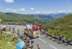 Cofidis Caravan - Tour de France 2014 Royalty Free Stock Photography