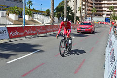 Cofidis Rider At La Vuelta España Time Trial Royalty Free Stock Photos