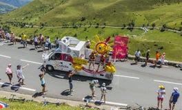 Cofidishusvagn - Tour de France 2014 Royaltyfria Foton