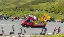 Cofidishusvagn - Tour de France 2014 Royaltyfri Fotografi