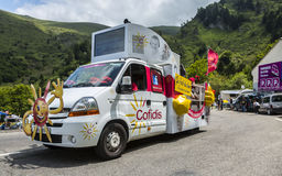 Cofidislastbil - Tour de France 2014 Royaltyfria Bilder