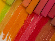Coforful crayons Stock Image