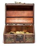Cofre del tesoro Fotos de archivo libres de regalías