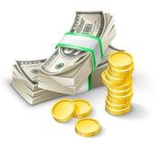 Cofre forte aberto com lingotes do ouro Foto de Stock Royalty Free