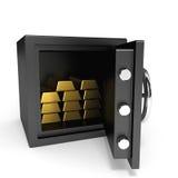 Cofre forte com barras de ouro. Fotos de Stock Royalty Free