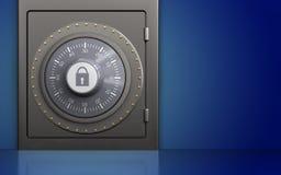 cofre forte 3d seguro Imagens de Stock