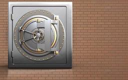 cofre forte 3d seguro Imagens de Stock Royalty Free