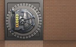 cofre forte 3d seguro Imagem de Stock Royalty Free
