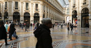 Cofre-forte da galeria de Vittorio Emanuele II vídeos de arquivo