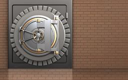 cofre forte da porta do banco 3d Fotografia de Stock Royalty Free