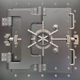 Cofre forte no aço inoxidável. Vault de banco. Imagem de Stock Royalty Free
