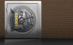 cofre forte seguro do metal 3d Imagens de Stock