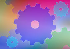 Абстрактная предпосылка с красочными колесами cog Стоковое Фото