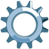 Cog. Vector art of cog or gear isolated on white background