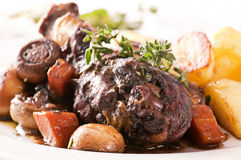 Cog au Vin. With potato Stock Photography
