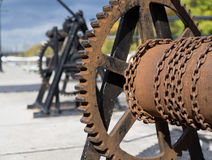Cog and Chain Royalty Free Stock Images
