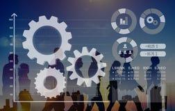 Cog Collaboration Graph Analysis Teamwork Concept Stock Image