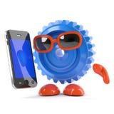 Cog 3d с smartphone Стоковые Фотографии RF