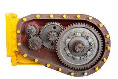 Cog of engine on white Royalty Free Stock Photos