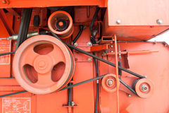Cog and gear of engine and belt Royalty Free Stock Photos