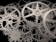 Cog and gear wheels Stock Images