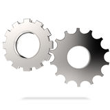 Cog gear on white background Stock Photography