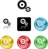 Cog gears icon symbol icon Royalty Free Stock Photography