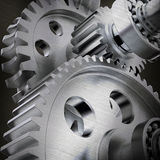 Cog gears joining together Royalty Free Stock Photos