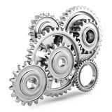 Cog gears mechanism concept. 3d Stock Photo