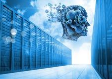 Cog head with servers Stock Image