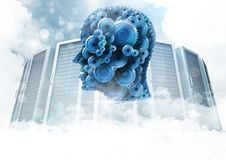 Cog head with servers Stock Images