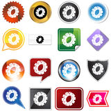 Cog Icon Set Royalty Free Stock Image