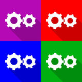 Cog  icons set great for any use. Vector EPS10. Stock Photo