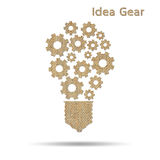 Cog idea light bulb Royalty Free Stock Photos