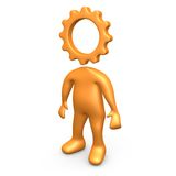 Cog Person Royalty Free Stock Images
