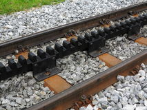 Cogwheel railway line Stock Photo