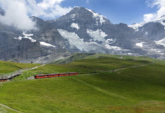 Cog Railway in Alpine Stock Photo