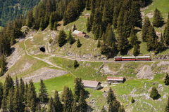 Cog Railway goes to tunnel Stock Images