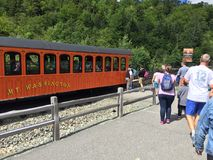 Cog railway train stock image