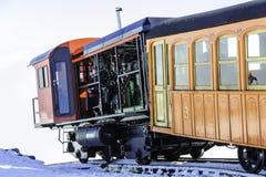 Cog Railway train on summit Royalty Free Stock Image